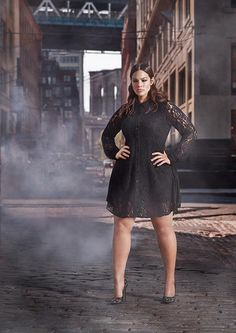 Black lace is oh-so sexy. We love the look of Ashley Graham in this number by Addition Elle.