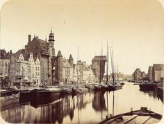 Danzig/Gdańsk - The Motława River, 1865