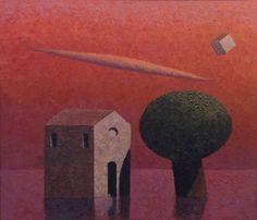 Matthias Brandes, Capriccio, 2014, olio e tempera su tela, 35 x 40 cm #contemporary #art #painting