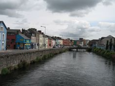 Walking into the town of Cork, Ireland