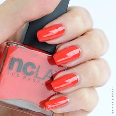 Keeping it nice and classic with this strikingly bright red cream nail polish color, Call My Agent by NCLA for this week's Vegan Mani Monday! All of NCLA nail polish are cruelty-free, vegan, and 5-free.