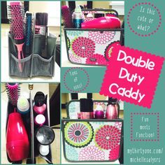 I'm convinced there's nothing this Double Duty Caddy can't do!   I have a LOT of hair products and they all fit! LOVING THIS!  www.mythirtyone.com/michellesalyers