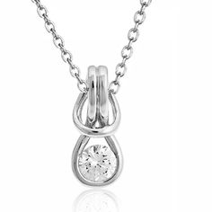 Knot Necklace, Love Necklace, Pendant Necklace, Fragrance, Necklaces, Sterling Silver, Jewelry, Jewels, Chain