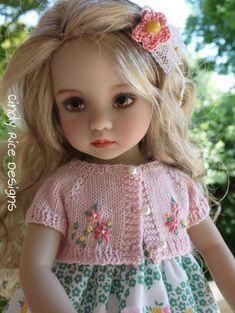 """""""Flower Picking"""" made for Dianna Effner's Little Darling dolls, cindyricedesigns.com ."""