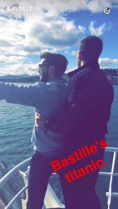 bastille // charlie + will on kyle's snapchat!