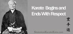 karate begins and ends with respect Master Gichin Funakoshi Martial Arts Books, Martial Arts Quotes, Shotokan Karate, Bruce Lee Quotes, Warrior Spirit, Martial Artist, Fight Club, Dojo, Taekwondo
