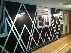 Paint Designs On Walls With Tape Ideas create a geometric design on you wall with painter39s tape use a wall designs with tape Painters Tape Design Wall