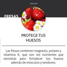 Comer fresas protege tus huesos. | #Desayuno #Fresas