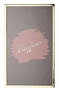 Happiness Framed Textual Art