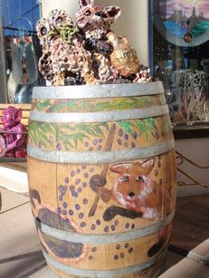 One of the painted barrels along the northern Arizona wine trail