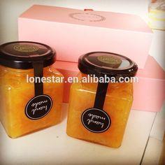 Promotion bulk mini and large airtight storage glass honey jars,tapered glass honey jar with screw cap