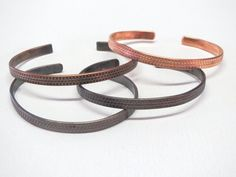 Hand Finished Patterned Copper Bracelet in by InsomniacTreasures
