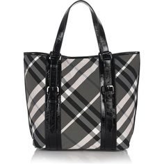 burberry check medium tote - my mom got a great deal on it from bloomingdale's chicago Burberry Tote, Burberry Plaid, Burberry Handbags, Prada Handbags, Handbags Online, Tote Handbags, Plaid Purse, Stylish Handbags, Medium Tote