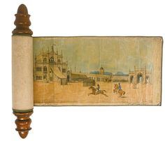 An Illustrated Scroll depicting the Hussainabad Imambara Complex, India, Company School, Lucknow, first half 19th century | Lot | Sotheby's