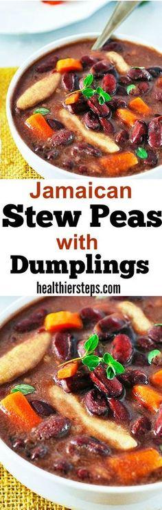 Jamaican Stew Peas with Dumplings