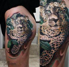 Leopard Hip Tattoos For Women Realistic leopard hip tattoo best tattoo ...