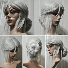 Greetings! I would like to offer you the wig of Cirilla Fiona Elen Riannon from The Witcher 3 Wild Hunt game.♡♡♡ The wig is completely new and was never in use. Wig to order! 2-3 weeks.  Material: Synthetic Hair Color: Silver Net Weight: 280g Size: 70cm Material: High Heat Resistant Synthetic Hair Can Be Permed: Yes  ☆☆☆ Delivery☆☆☆ I send it to your place by the EMS fast delivery. (it is a Russian version of the UPS) The wig is densely packed in a pasteboard box for it can be safe there…
