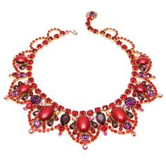 Juliana Red and Purple Necklace
