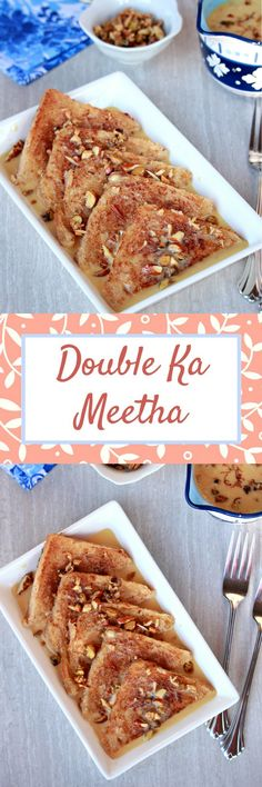 Double Ka Meetha - A famous and rich dessert from the Hyderabad cuisine. #dessert #dessertrecipes #bread #milk #indian #indianfood #recipe #delicious