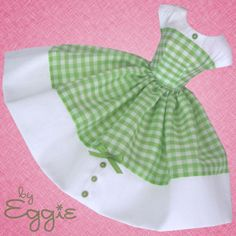 Green Apple - Vintage Barbie Doll Dress Reproduction Repro Barbie Clothes