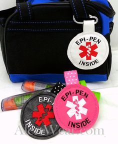 "Medical Alert Tag ""Epi-Pen Inside"" Label Teal Food Allergy Awareness Backpack Medical Alert Tag by Alert Wear Tree Nut Allergy, Peanut Allergy, Volunteer Gifts, Volunteer Appreciation, Mast Cell Activation Syndrome, Awareness Tattoo, Latex, Backpack Tags, Nut Allergies"