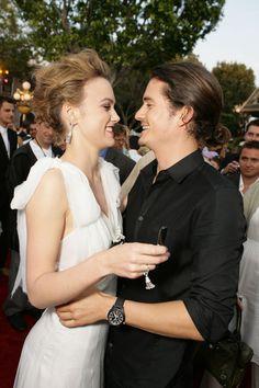 Keira Knightley and Orlando Bloom in 2006.