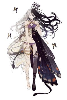 Black One-Piece Dress - pixiv Spotlight Fantasy Character Design, Character Design Inspiration, Character Art, Manga Anime, Manga Art, Kawaii Anime Girl, Anime Art Girl, Estilo Anime, Illustration