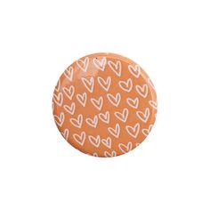 Heart Pattern Orange Button