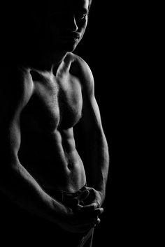 Fine Art Photography men | ... Of Muscular Man Photograph - Silhouette Of Muscular Man Fine Art Print