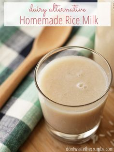 You're not going to believe this, but homemade rice milk costs just 6¢ to make! Compared to store-bought, you're saving 99%!! My favorite variation is cinnamon vanilla - it's so good! :: DontWastetheCrumbs.com