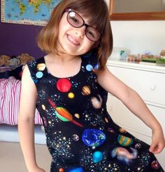Space Black Pinafore via Sewing Circus. Click on the image to see more!