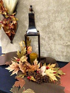 Beautiful Lantern and Fall Decor