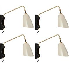 Brass Swing Arm Sconce | From a unique collection of antique and modern wall lights and sconces at https://www.1stdibs.com/furniture/lighting/sconces-wall-lights/