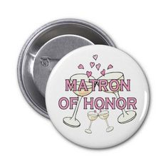 Matron of Honor Wedding ID Button