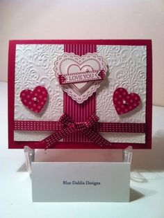 hearts a flutter- raspberry ripple by Stampin with HB - Cards and Paper Crafts at Splitcoaststampers