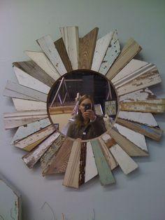 star burst wooden projects diy | DIY Beachy Wood Starburst Mirror