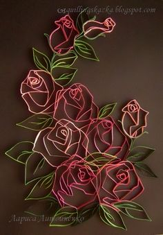 filigree rosettes on a black background