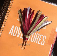 Wine Autumn Multi Ribbon Planner Clip for FiloFax, Erin Condren, Day Planner, Kikki K, Plum Paper Planner, Happy Planner, EC by LyshaDreams on Etsy