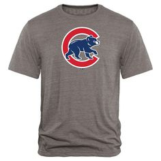 Chicago Cubs Rally Primary Logo Tri-Blend T-Shirt - Heathered Gray - $29.99