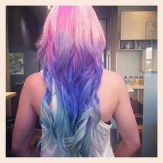 Wow...  Do I have the guts...  Pink and purple ombre hair