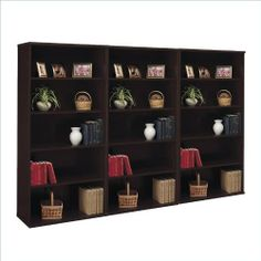 Bush Series C 5 Shelf Wall Bookcase in Mocha Cherry by Bush. $554.31. Bush Series C Open 5 Shelf Double Wood Bookcase in Mocha Cherry (included quantity: 3) The Bush Series C Open Double Bookcase combines both form and functions. It's modern appearance and five level storage system maximizes the use of your interior storage space. Ideal for books, photos, plants, or other decorative items, this piece can be used in both a residential, commercial, or office env...