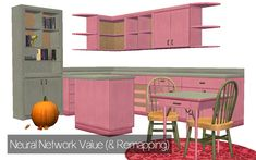 """withlovefromsimtown:"""" Neural Network Value Kitchen (Download)Screaming at SimPE ftw.• Grungy recolors of the Value kitchen counter• In all 27 Neural Network Brights (middle swatch)• Shown in Lime... Kitchen Dining, Kitchen Decor, Bookmark Printing, 12 November, Sims 2, Toy Chest, Maxis, Storage, Counter"""