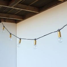 one forty three brass string lights