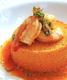 ROASTED SHRIMP WITH CARROT COUSCOUS & GINGER-LIME CARROT REDUCTION - incredibly easy and SO delicious!