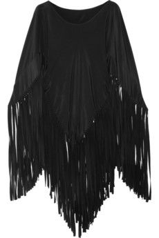 Woooow Love this: Fringed Silk Poncho Boho Look, Work Wardrobe, Wearing Black, Diy Clothes, Dress To Impress, Moschino, Cool Outfits, Style Inspiration, My Style