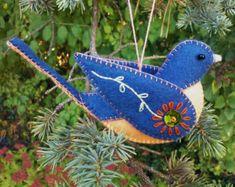 Fieltro adornos de ave sentía ornamento de Tucan por FeltLikeIt1