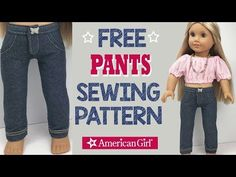 DIY Pants for American Girl Doll Leggings - Jeggings - Jeans American Girl Outfits, American Doll Clothes, American Girls, Sewing Doll Clothes, Girl Doll Clothes, Girl Dolls, Doll Sewing Patterns, Doll Clothes Patterns, Crazy Cat Lady