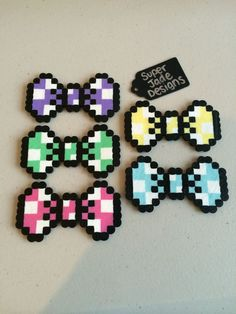Pastel Polka Dot Bow - Hair Clips. via SuperJade Designs. Click on the image to see more!