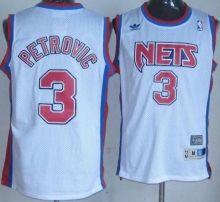 63ab71f3b New Jersey Nets 3 Drazen Petrovic Soul Swingman Stitched White NBA Jersey  Wholesale Cheap