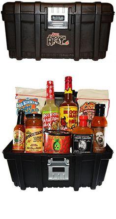 Spicy Gourmet Hot Sauce Tool Box Gift Basket Set